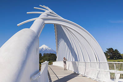 Photograph - Te Rewa Rewa Bridge Taranaki New Zealand by Colin and Linda McKie
