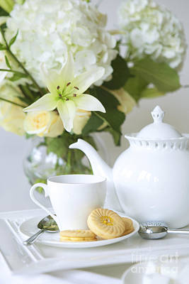 White China Cup Photograph - Tea And Cookies by Diane Diederich