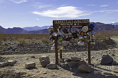 Teakettle Photograph - Teakettle Junction Death Valley by Jerry Fornarotto