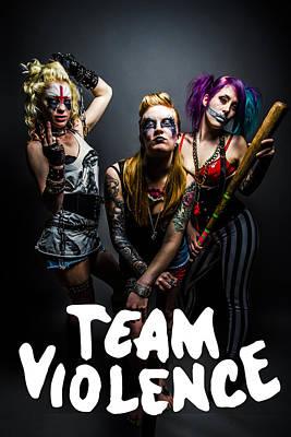 Team Violence Art Print by Kyle James-Patrick