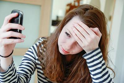 Psychiatric Photograph - Teenage Cyberbullying by Aj Photo