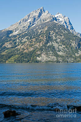 Photograph - Teewinot Mountain Jenny Lake Grand Teton National Park by Fred Stearns