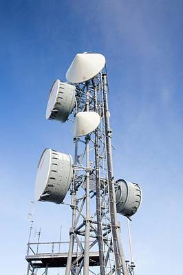 Blue Mobile Photograph - Telecommunication Equipment by Ashley Cooper