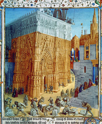 Medieval Temple Painting - Temple Of Jerusalem by Granger