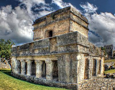 Photograph - Temple Of The Frescos - Tulum by Ines Bolasini