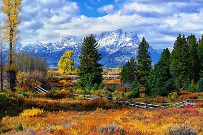 Photograph - Teton Autumn by Greg Norrell