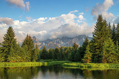 Teton Wall Art - Photograph - Teton Mountains Reflect In Schwabacher by Chuck Haney
