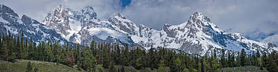 Photograph - Large Tetons Panorama by Gene Norris