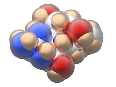 Molecule Photograph - Tetrodotoxin Ttx Neurotoxin Molecule by Alfred Pasieka