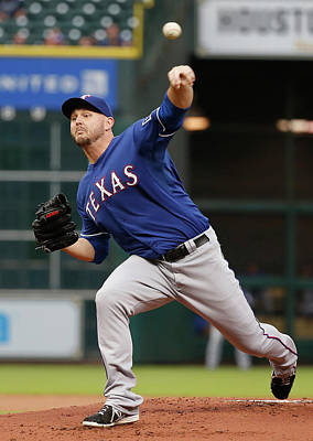 Photograph - Texas Rangers V Houston Astros by Scott Halleran