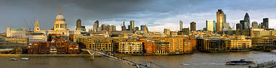 Photograph - Thames With St Paul's Panorama by Gary Eason