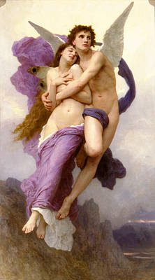 William Adolphe Bouguereau Psyche Painting - The Abduction Of Psyche by William-Adolphe Bouguereau