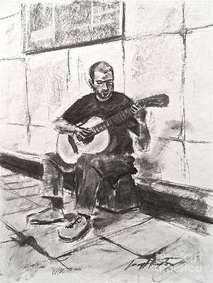 Drawing - The Acoustic Man by Wade Hampton