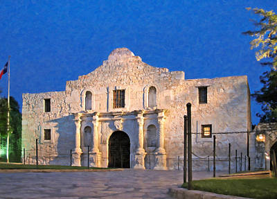 Alamo Painting - The Alamo At Twilght by Danny Smythe
