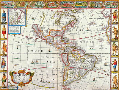 Mapping Mixed Media - The Americas by Indian Summer
