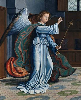 Netherlands Painting - The Annunciation by Gerard David
