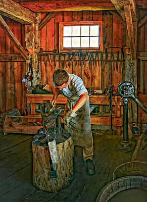 Antique Ironwork Photograph - The Apprentice 2 by Steve Harrington