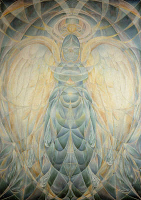 Cosmological Painting - The Archangel Gabriel by Daniel Gautier