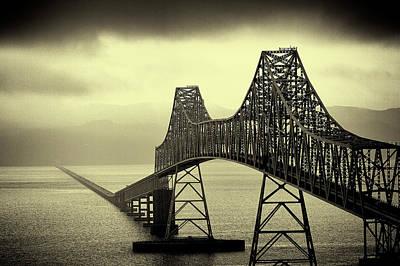 Fog Photograph - The Astoria Bridge by David Patterson
