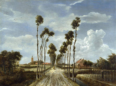 Painting - The Avenue At Middelharnis by Meindert Hobbema
