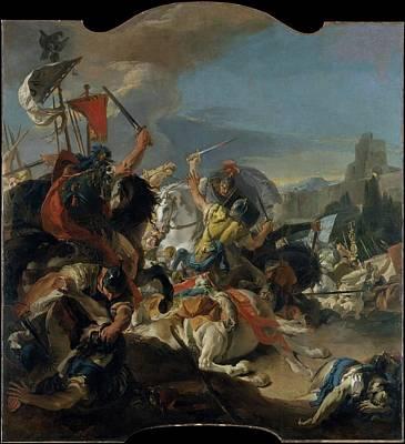 Giovanni Battista Tiepolo Painting - The Battle Of Vercellae by Giovanni Battista Tiepolo