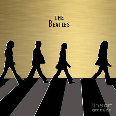 The Beatles Gold Series Art Print by Marvin Blaine