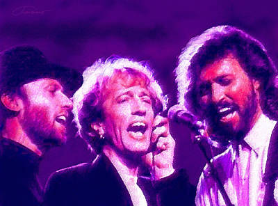 Icons Of Rock Music Digital Art - The Bee Gees by John Travisano