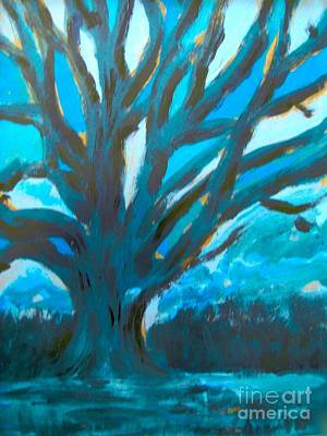 Painting - The Blue Tree by Joan-Violet Stretch