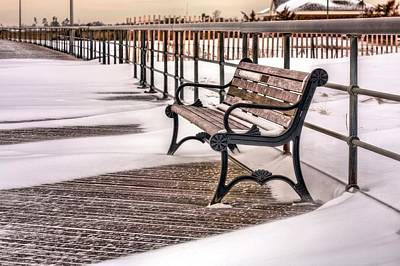 Winter Storm Photograph - The Boardwalk by JC Findley