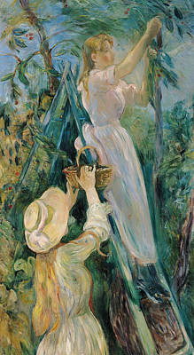 The Cherry Picker  Art Print by Berthe Morisot