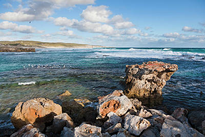 The Coastline At Hanson Bay On Kangaroo Art Print by Martin Zwick