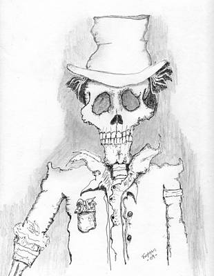 Drawing - The Dealer by Dan Twyman