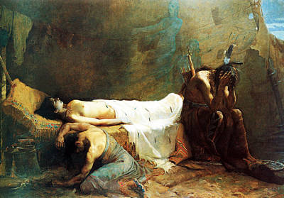 Native American Nude Photograph - The Death Of Minnehaha by William De Leftwich Dodge