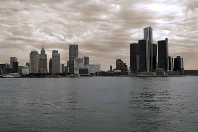 Thomas Kinkade - The Detroit Skyline by Chris Smith