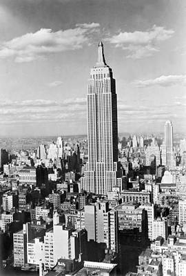 The Empire State Building Art Print by Underwood Archives