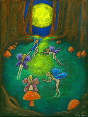 Pastel - The Faery Ring by Diana Haronis