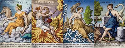 The Four Humors Of Hippocratic Medicine Art Print