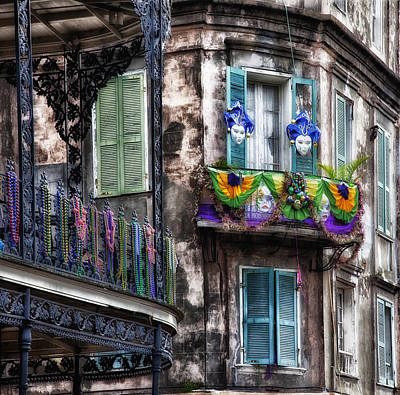 Historic Home Photograph - The French Quarter During Mardi Gras by Mountain Dreams