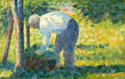 Painting - The Gardener by Georges Seurat