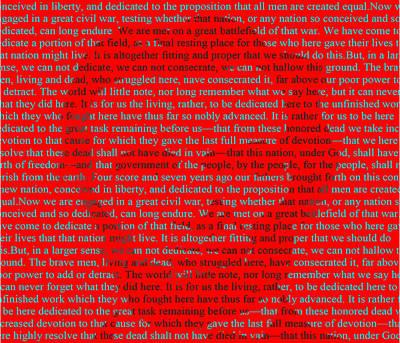 The Gettysburg Address Art Print