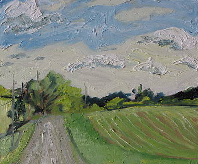 Gravel Road Painting - The Gravel Road by Francois Fournier