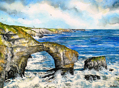 Majestic Seascapes Painting - The Green Bridge Of Wales by Andrew Read