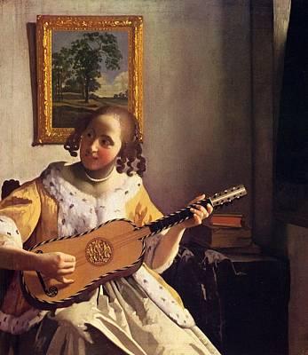 The Guitar Player Art Print by Johannes Vermeer