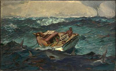 Winslow Homer Painting - The Gulf Stream by Winslow Homer