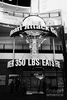 Heart Attack Grill Photograph - the heart attack grill restaurant freemont street downtown Las Vegas Nevada USA by Joe Fox