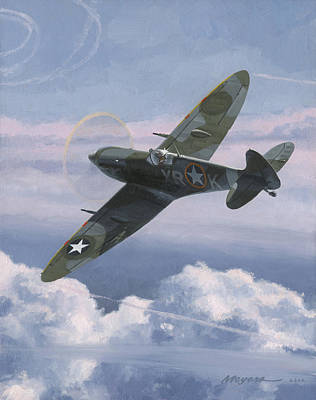 Spitfire Painting - The High Country by Wade Meyers