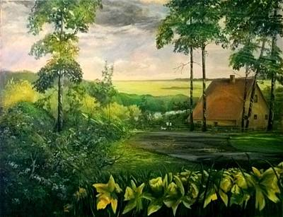 Painting - The House On The Bluff by John L Campbell