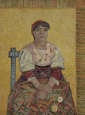 Van Gogh Painting - The Italian Woman by Vincent Van Gogh