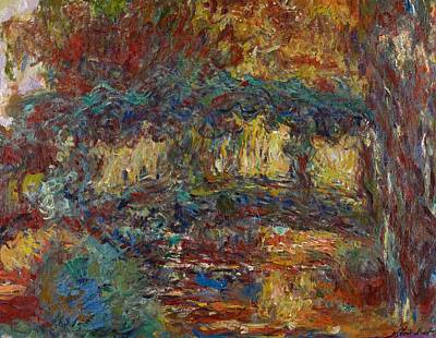 Garden Painting - The Japanese Bridge by Claude Monet