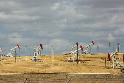 Production Photograph - The Kern River Oilfield In Oildale by Ashley Cooper